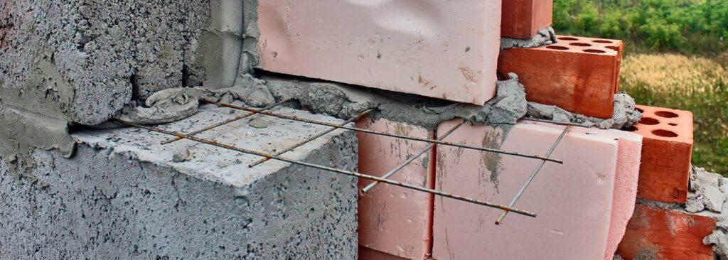 Армирование кладки из керамзитобетонных блоков