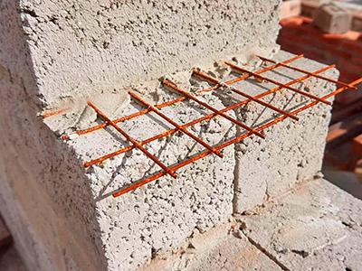 Армирование кладки из керамзитных блоков