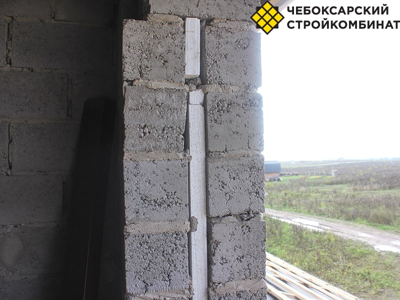 Необычный пирог стены из керамзитоблоков
