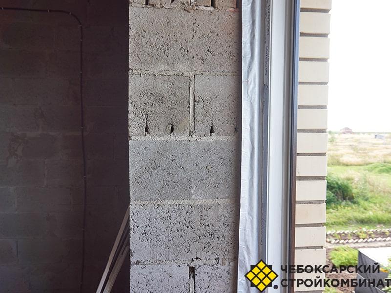 Толщина стены из блоков