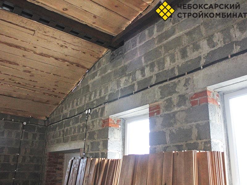 Стены из керамзитоблоков