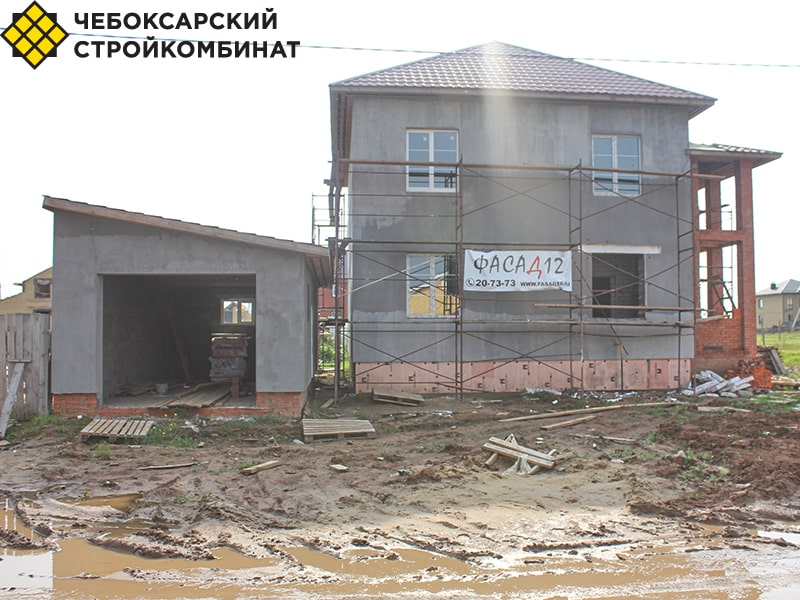 Дом из керамзитобетонных блоков под Йошкар-Олой