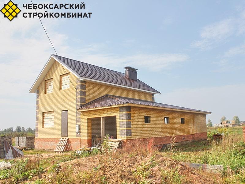 Коттедж из керамзитных блоков в Советском