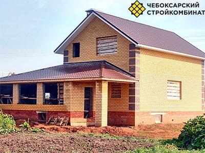 Дом из керамзитобетонных блоков в Марий-Эл